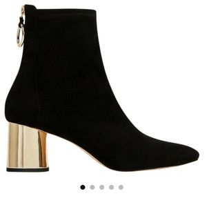 Zara Velvet With Gold Heel